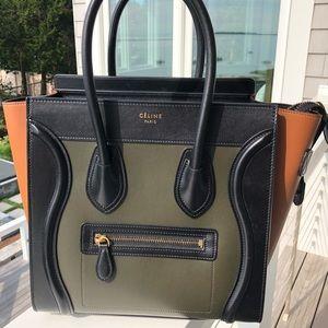 Celine Tricolor Micro Luggage/Purse